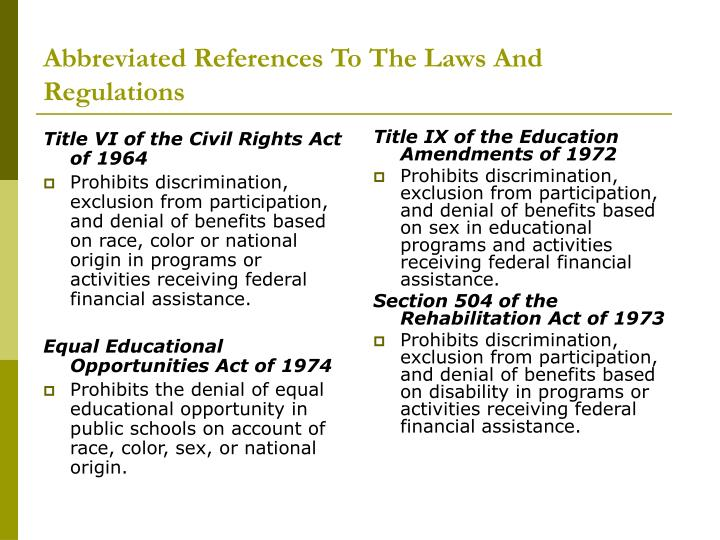 Abbreviated references to the laws and regulations l.jpg