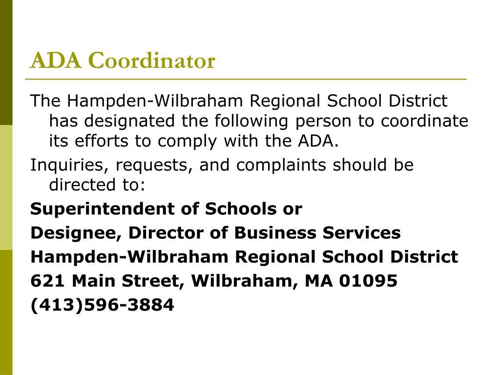ADA Coordinator