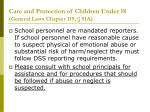 care and protection of children under 18 general laws chapter 119 51a