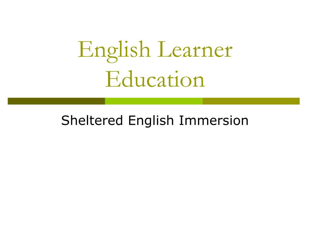 English Learner Education