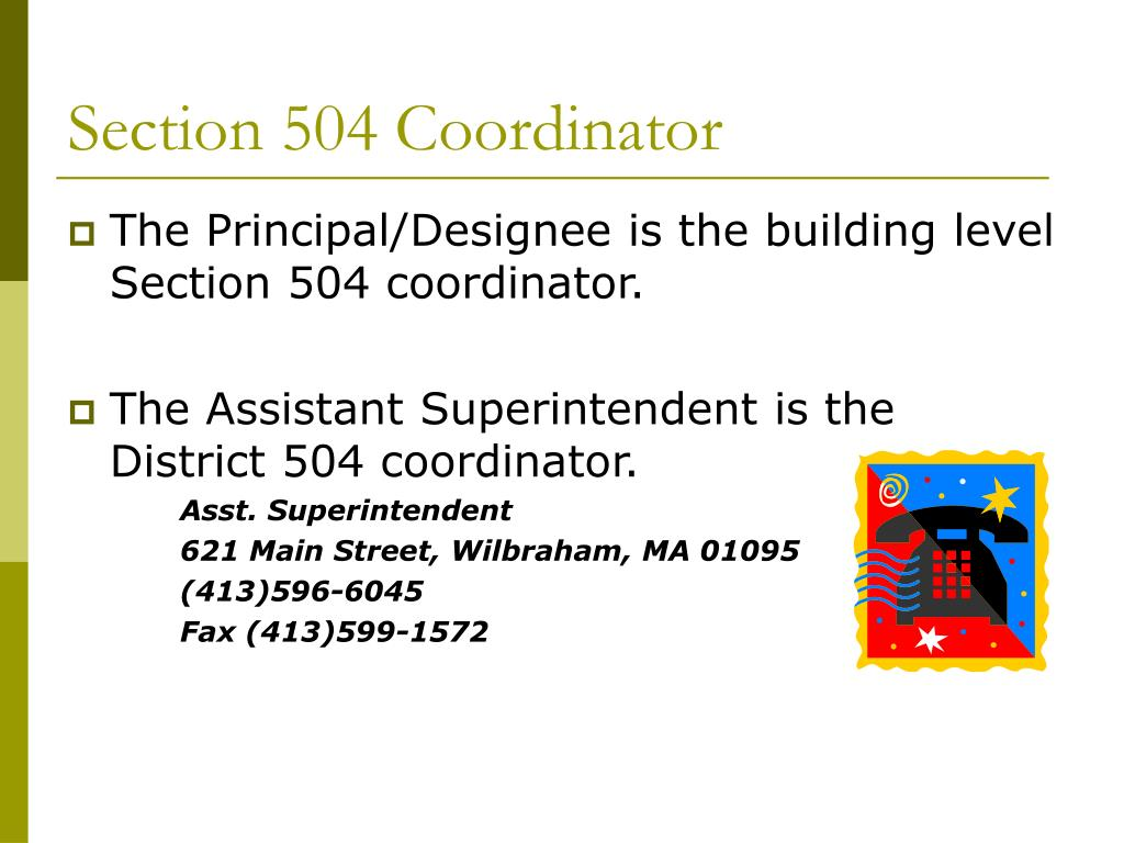 Section 504 Coordinator