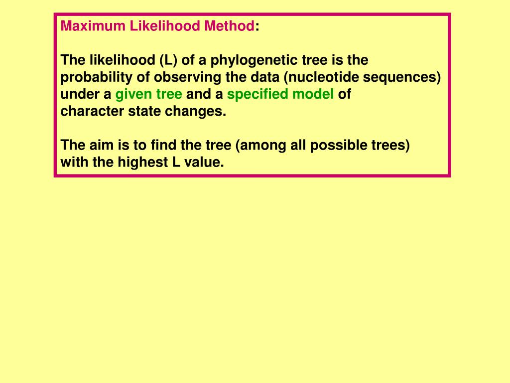 Maximum Likelihood Method