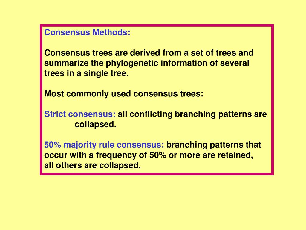 Consensus Methods: