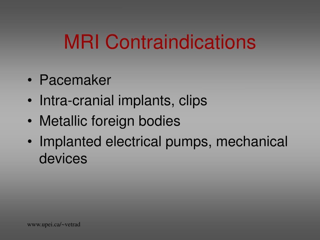 MRI Contraindications
