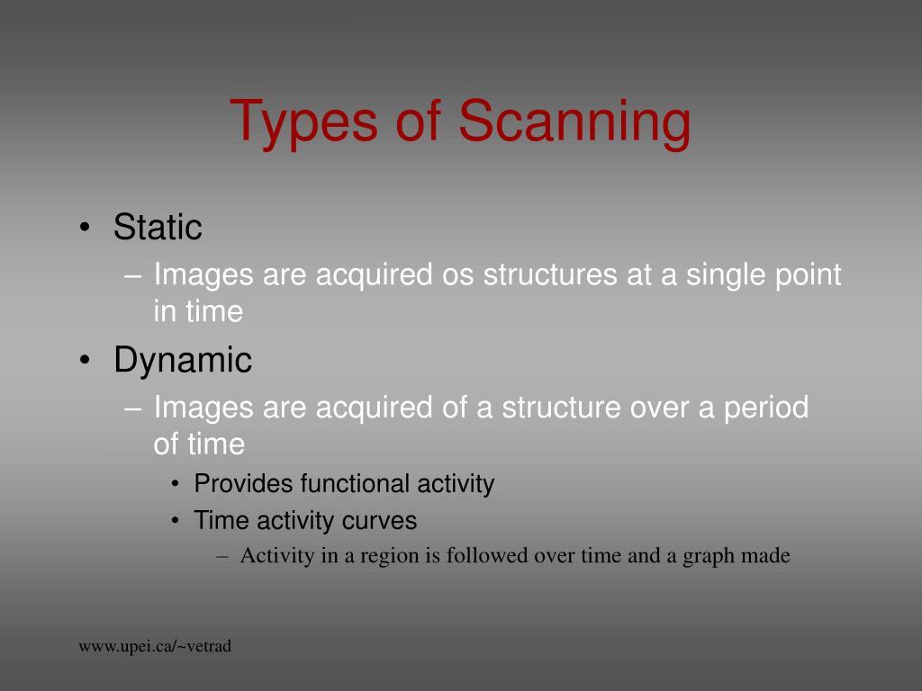 Types of Scanning