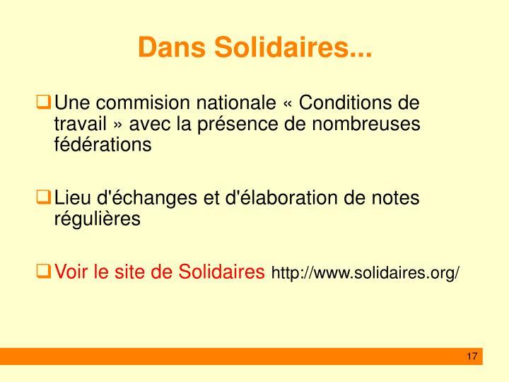 Dans Solidaires...