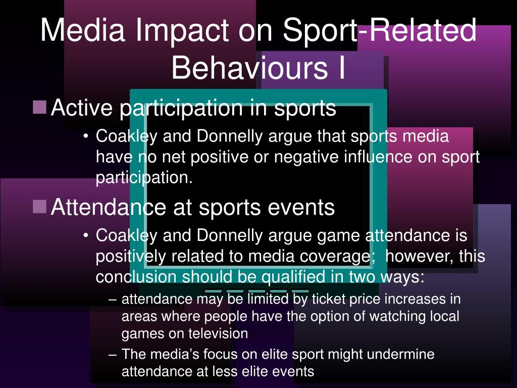 Media Impact on Sport-Related Behaviours I