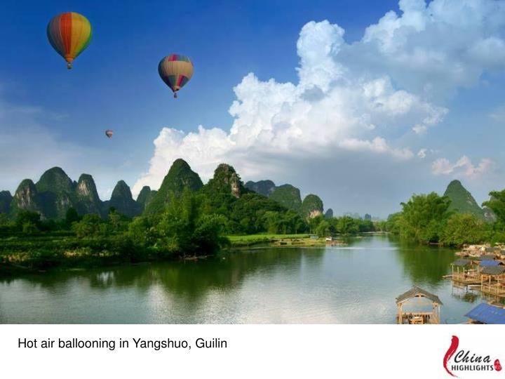 Hot air ballooning in Yangshuo, Guilin