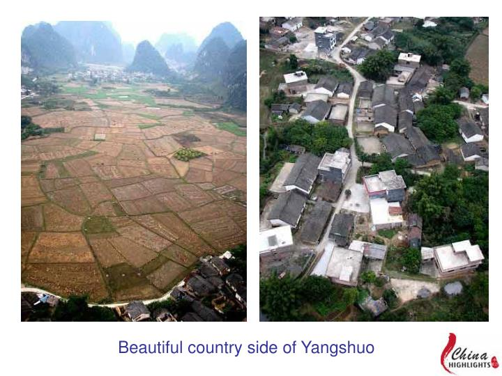 Beautiful country side of Yangshuo