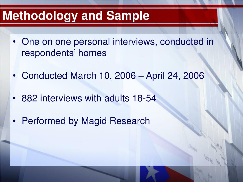 Methodology and Sample