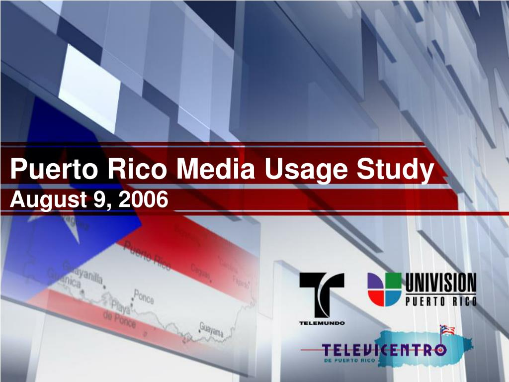Puerto Rico Media Usage Study