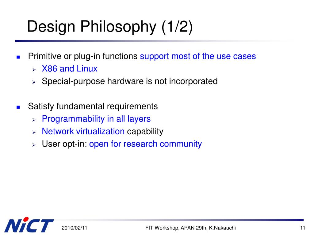 Ppt designing open wireless testbed for new generation for Philosophy design