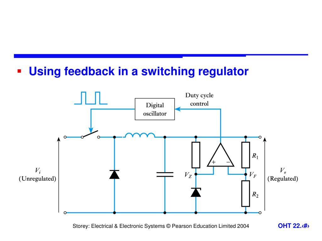 Using feedback in a switching regulator