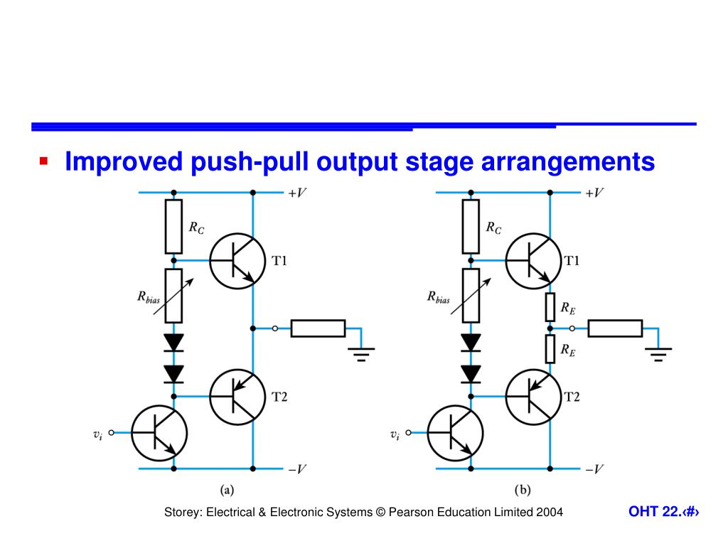 Improved push-pull output stage arrangements