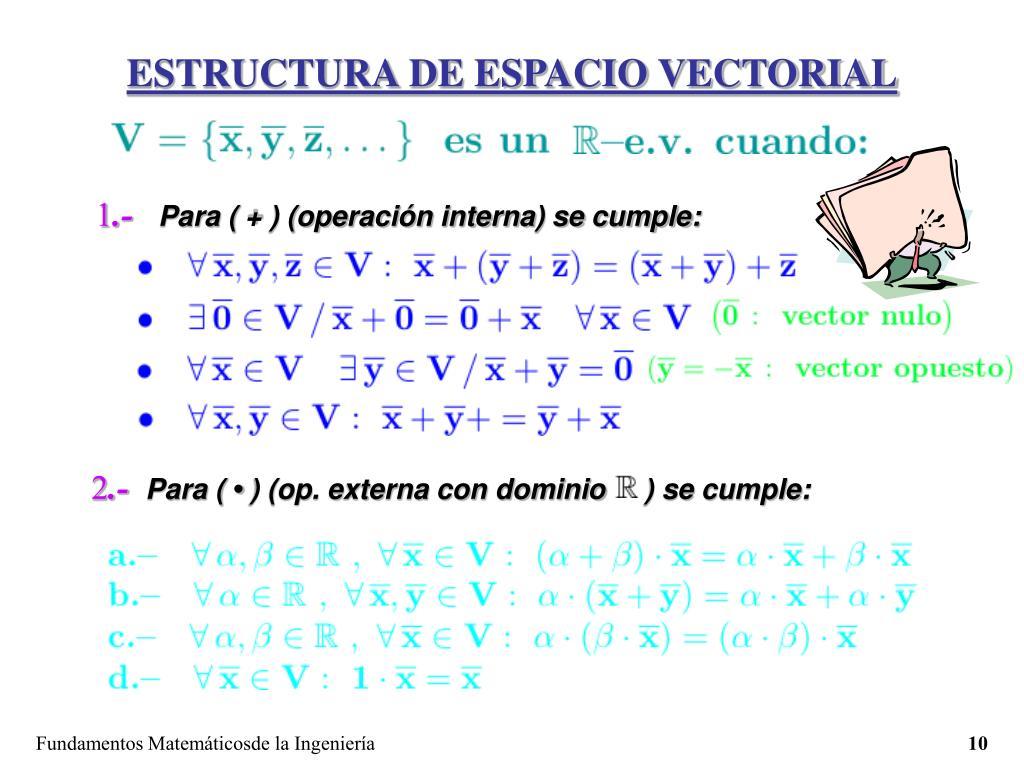 ESTRUCTURA DE ESPACIO VECTORIAL
