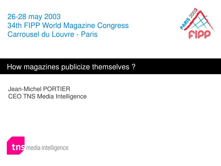 Jean michel portier ceo tns media intelligence