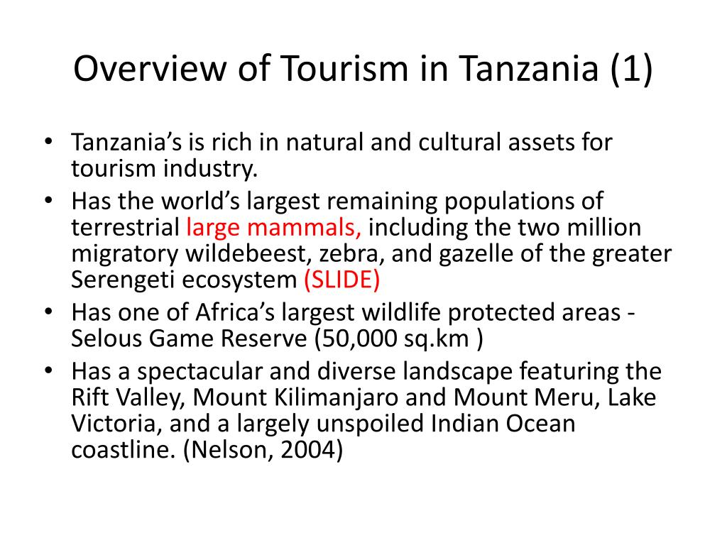Overview of Tourism in Tanzania (1)