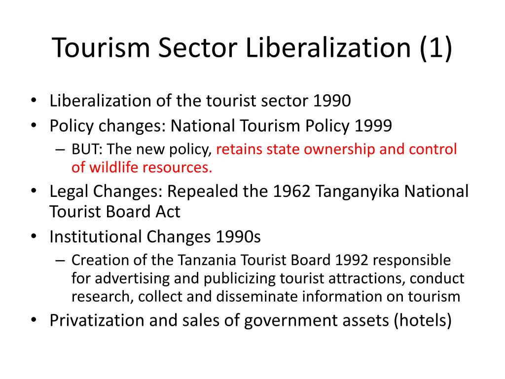 Tourism Sector Liberalization (1)