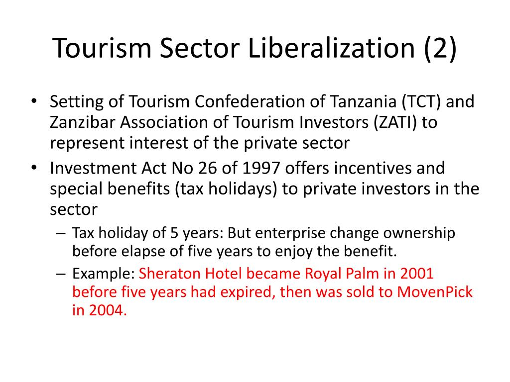 Tourism Sector Liberalization (2)