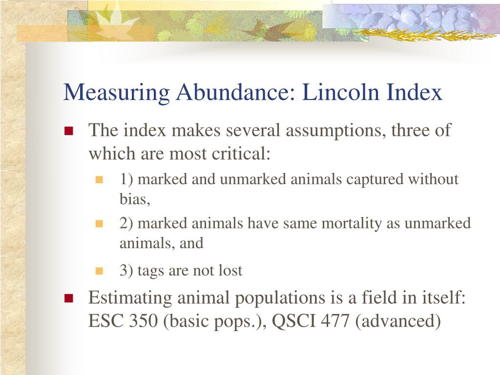 Measuring Abundance: Lincoln Index