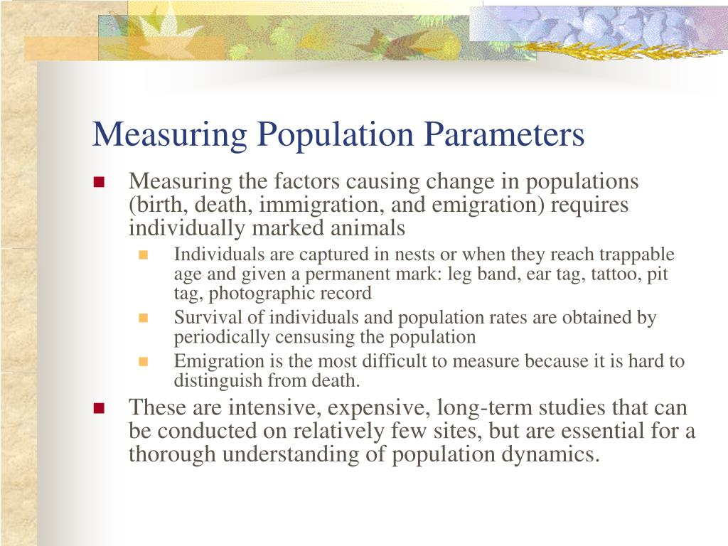 Measuring Population Parameters