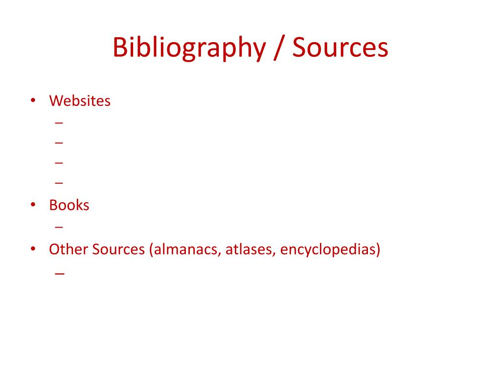 Bibliography / Sources
