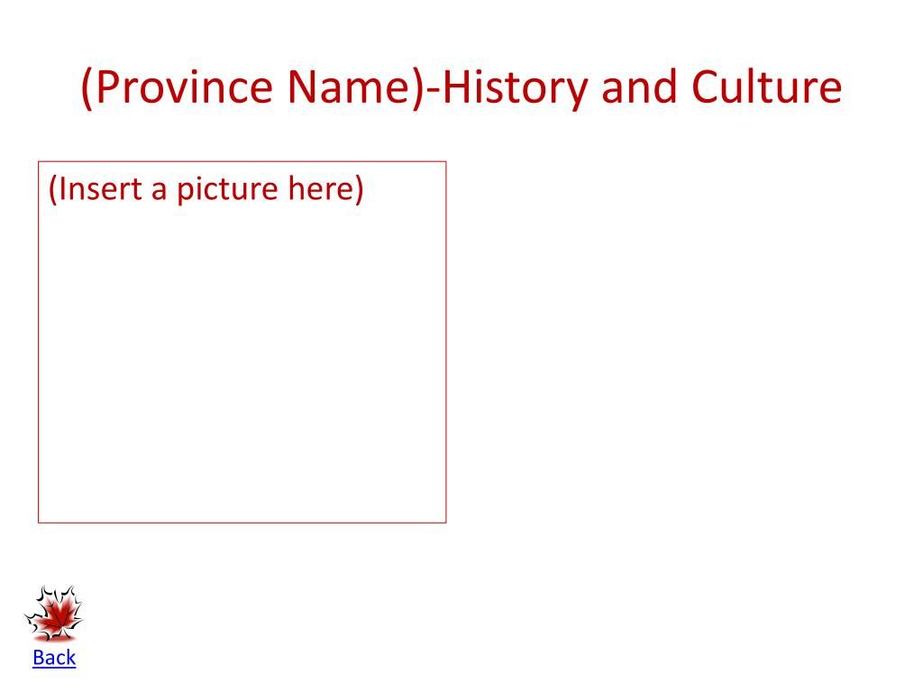 (Province Name)-History and Culture