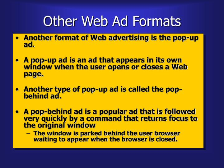 Other Web Ad Formats
