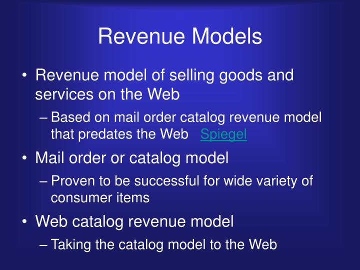 Revenue Models