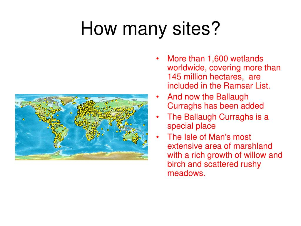 How many sites?