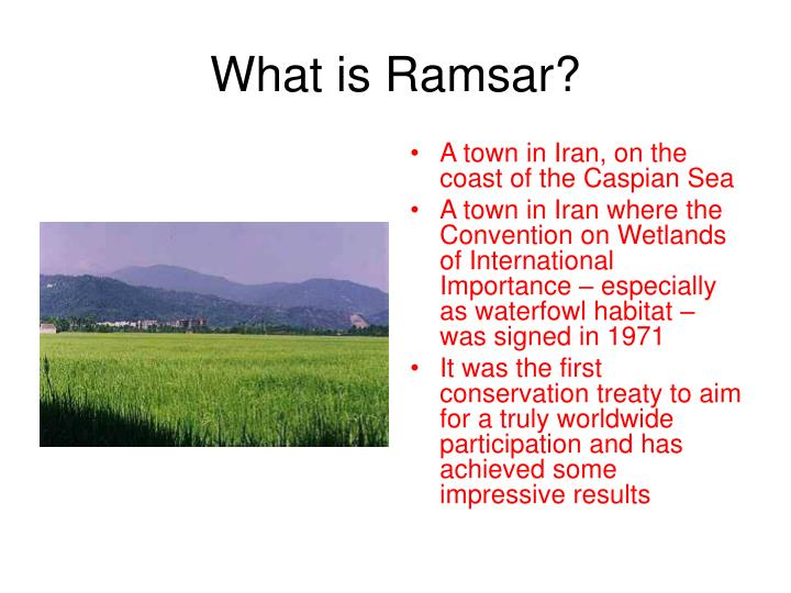 What is ramsar