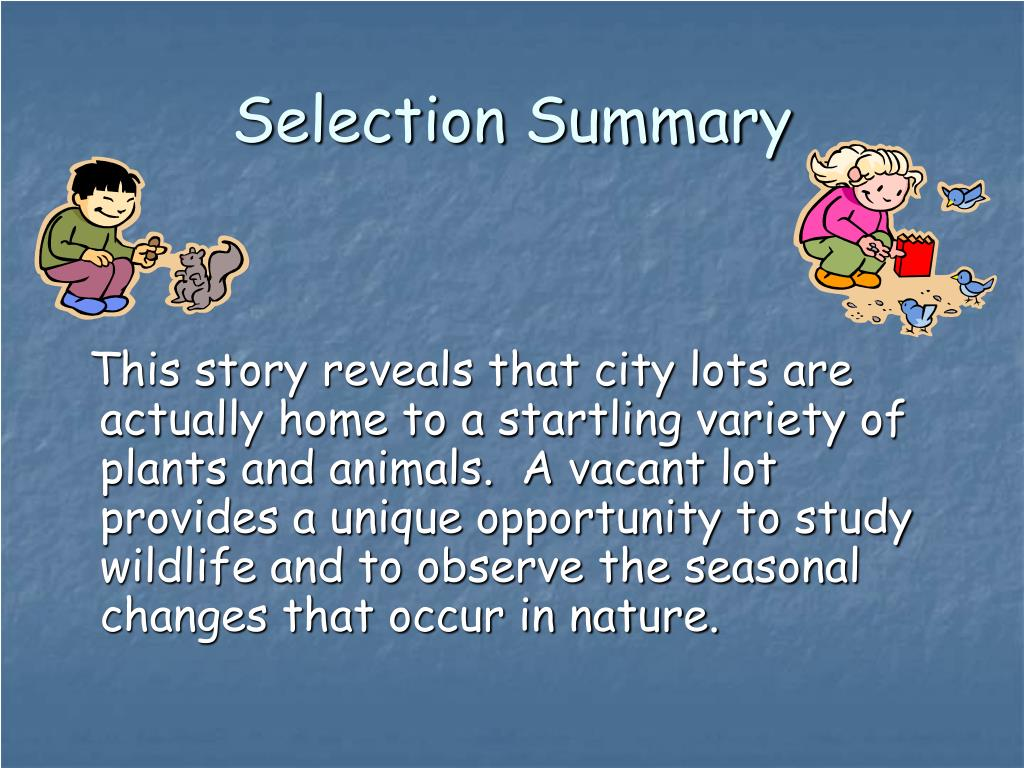 Selection Summary