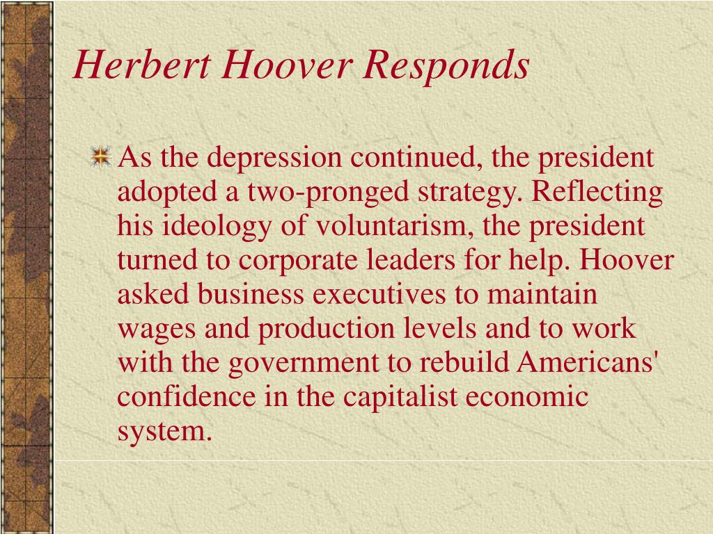 Herbert Hoover Responds