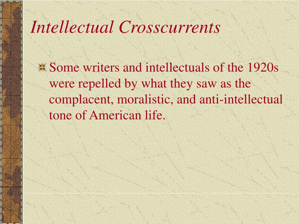 Intellectual Crosscurrents
