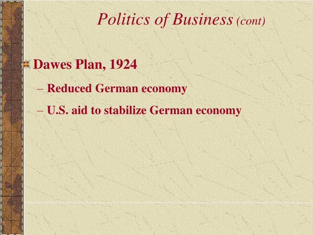 Politics of Business