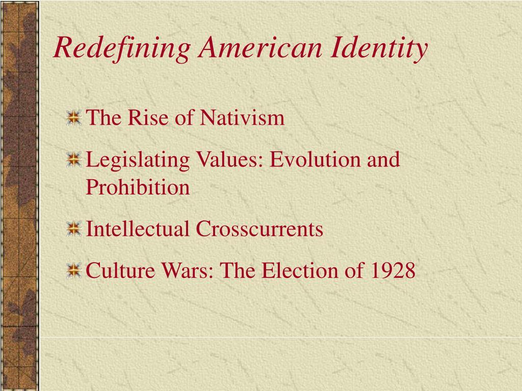 Redefining American Identity