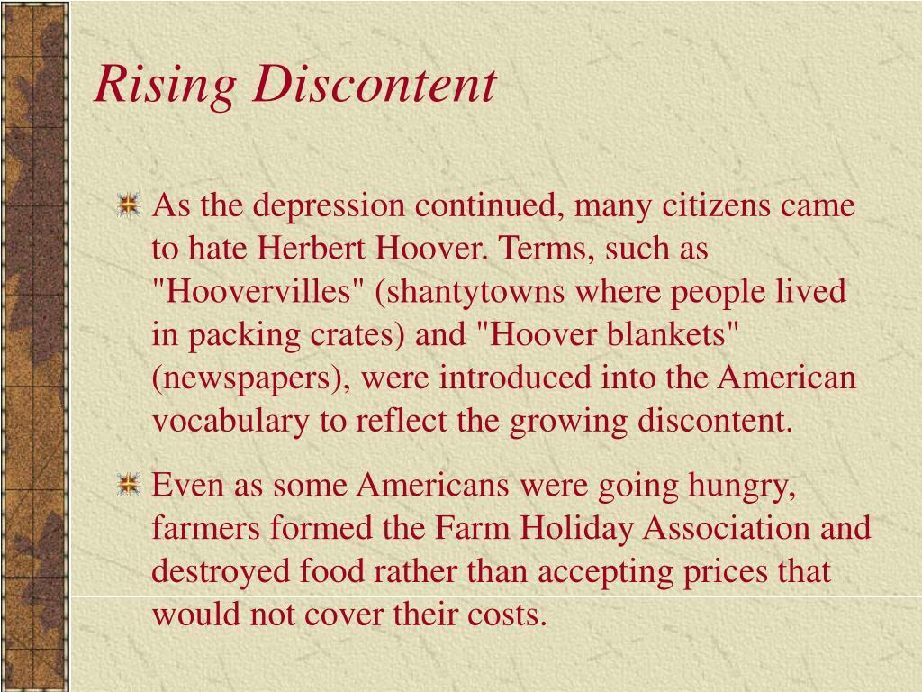 Rising Discontent