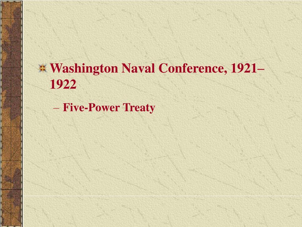 Washington Naval Conference, 1921–1922