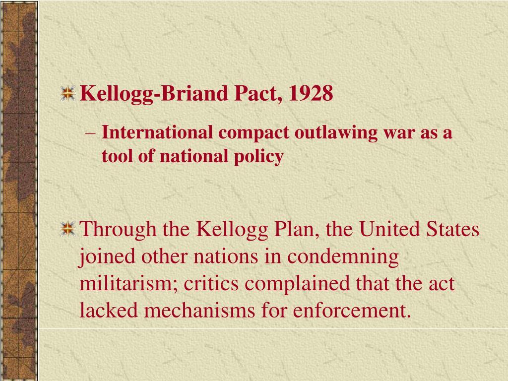 Kellogg-Briand Pact, 1928