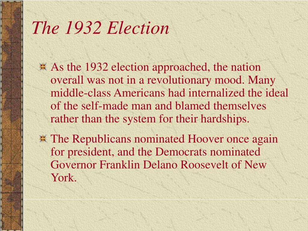 The 1932 Election