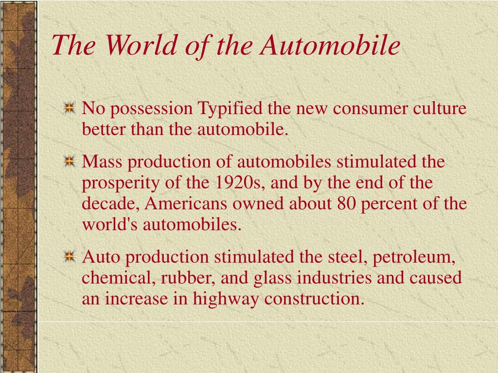The World of the Automobile