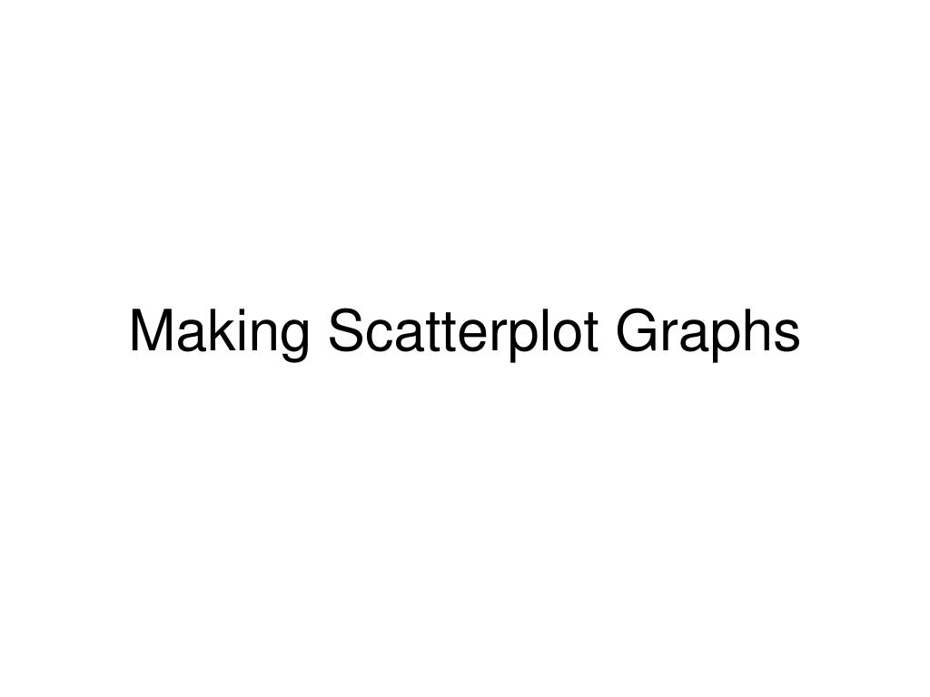 Making Scatterplot Graphs