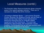 local measures contd