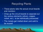 recycling plants