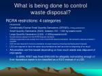 what is being done to control waste disposal