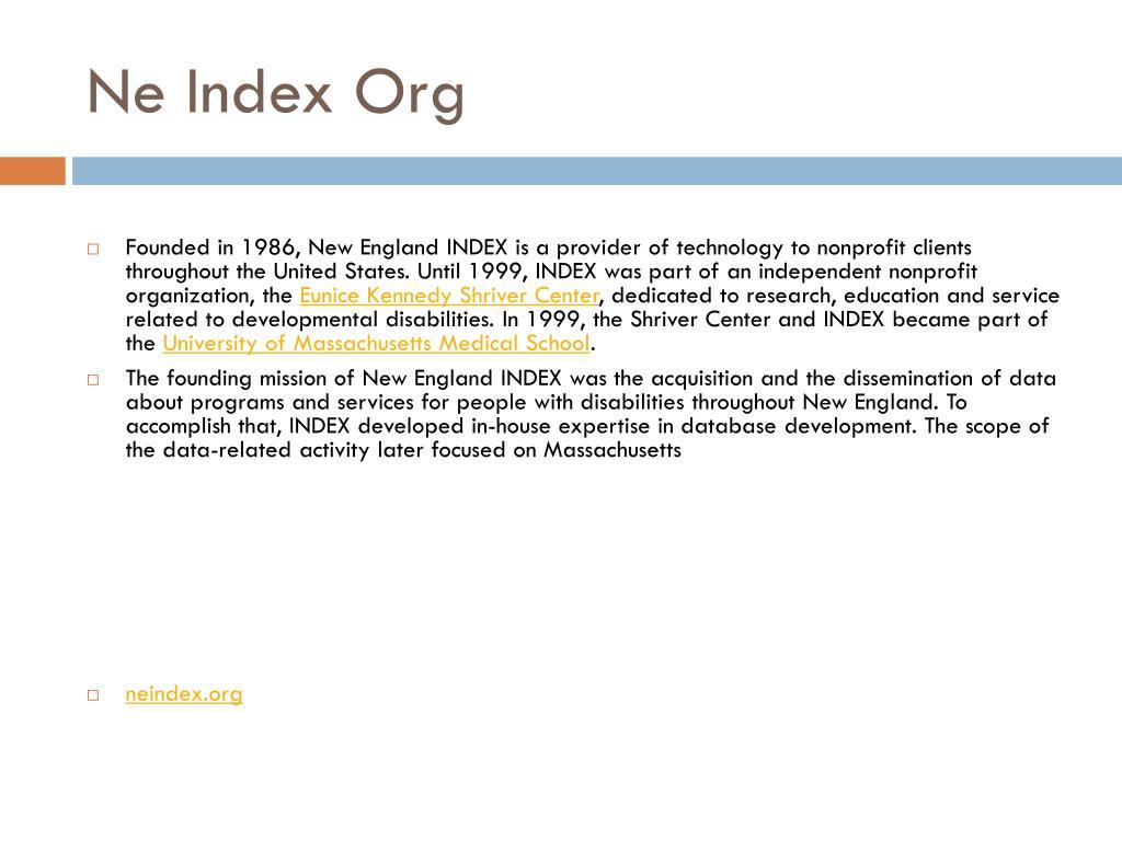 Ne Index Org