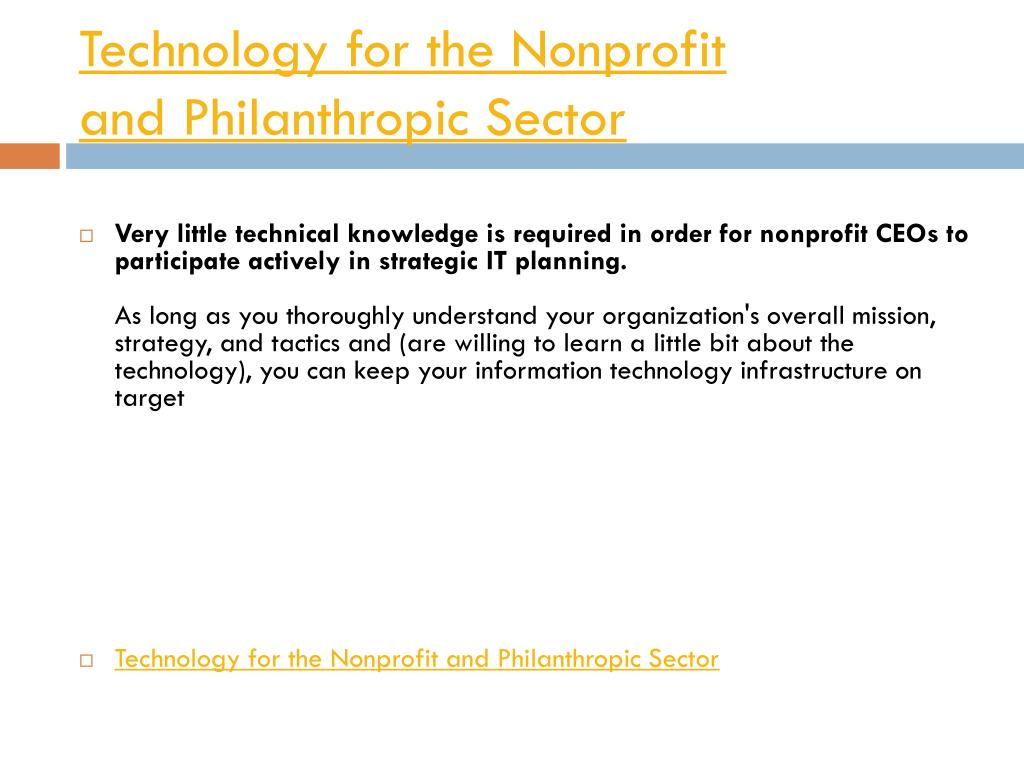 Technology for the Nonprofit