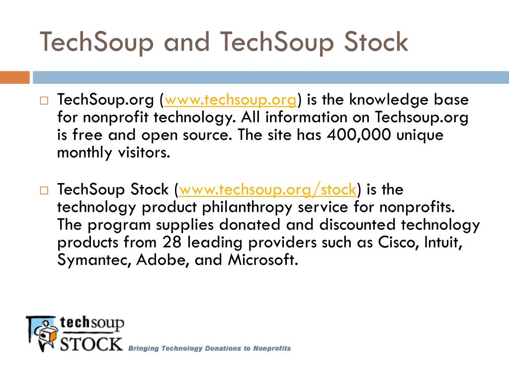 TechSoup and TechSoup Stock