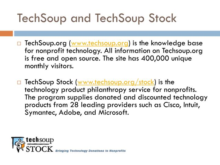 Techsoup and techsoup stock l.jpg
