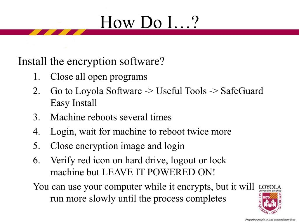 Install the encryption software?